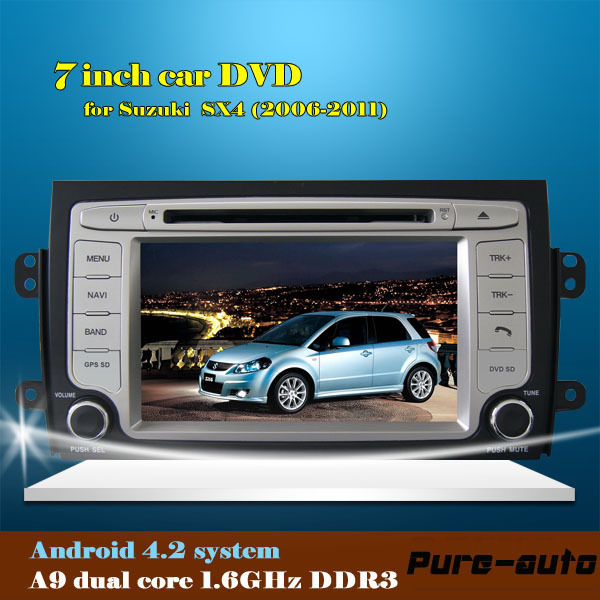 android 4.2 Car DVD GPS Navigation for SUZUKI SX4 (2006-2011) 2 DIN Car Stereo Radio Car GPS Double DIN Car Video Player(China (Mainland))