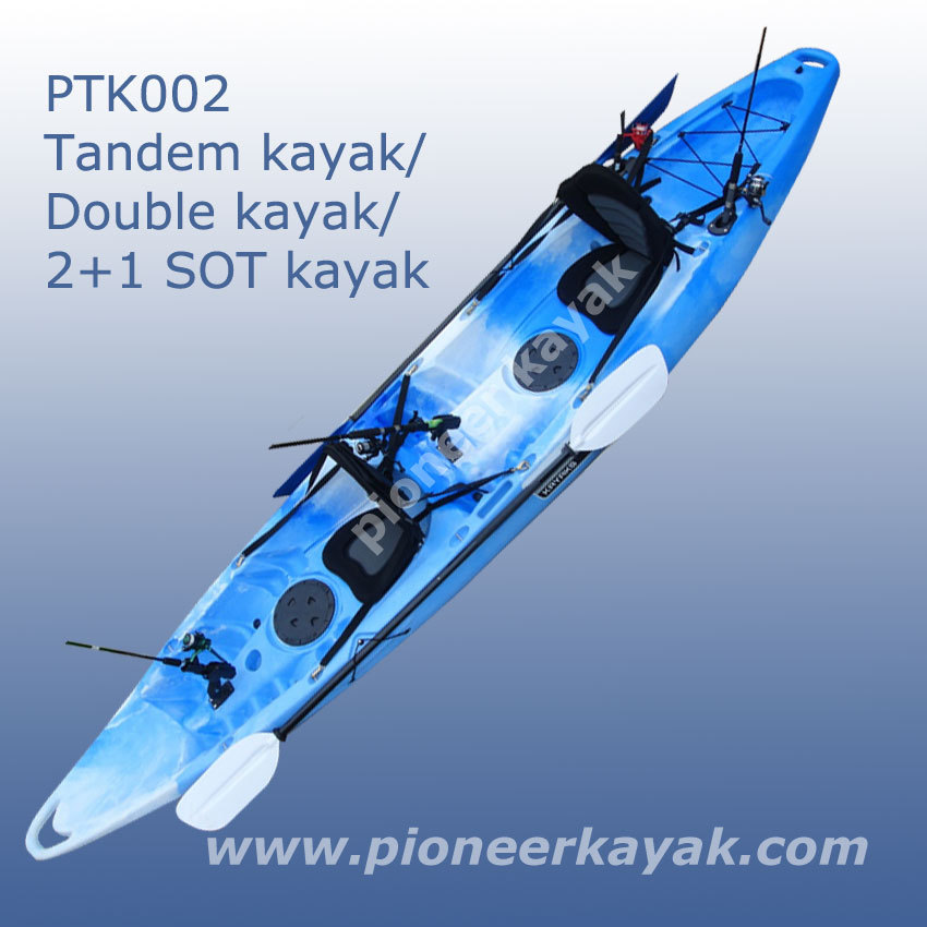 Sit on top fishing tandem kayak double kayak 2 1 kayak for Best sit on top fishing kayak