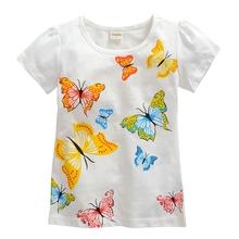 2 10 years brand Children T shirt Girls t shirt tees baby Girl Short Sleeve T