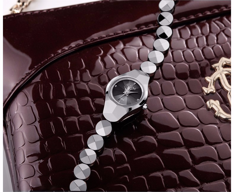 DOM 2016 Женщин Часы Лучший Бренд Вольфрамовой Стали Часы Моды Кварцевые Наручные Часы Люксовый Бренд Часы Для Женщин Бизнес Watche