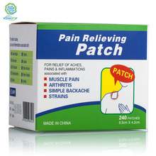 Health Care Products Chinese Menthol Medical Plaster Pain Relief Patch for Mouse Wrist Pain 240 pieces/box Herbal Pain Reliever(China (Mainland))