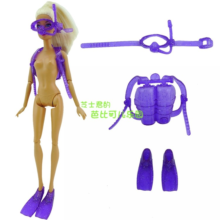 2016 New 1 Set Purple Trend Cool Summer time Diving Swimsuit For Barbie Doll,doll Play Home Equipment Baby' Greatest Reward woman toys