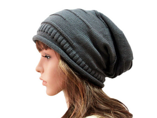 Wholesale 10pcs Classic Winter Mens Beanies Womens Acrylic Slouchy Beanie Hat Men Large Oversized SKullcap Knitting Baggy Hats