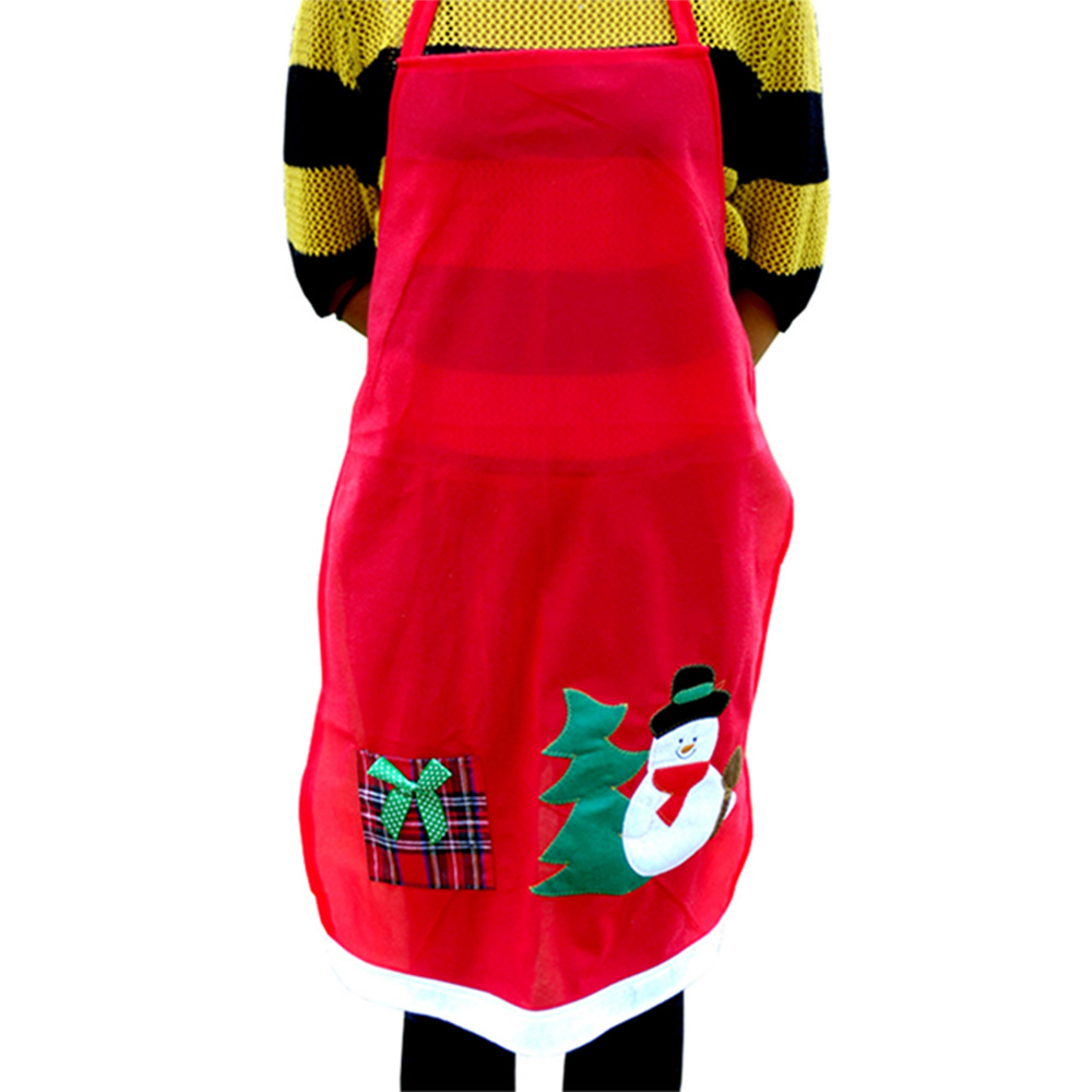 Creative Christmas Home Decorations Santa Claus Snowman Aprons with pockets for women men unisex Apron for Kitchen Accessories(China (Mainland))