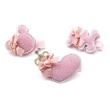 Дети сердце медведь микки зажим для волос девушка заколки шпильки мило головные уборы одежда аксессуары для волос mg0200(China (Mainland))