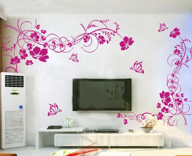 Keukengordijnen Landelijk : Flower Wall Stickers
