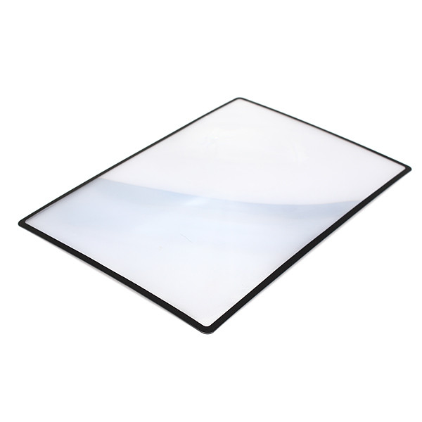 High quality 180x120mm Convinient A5 Flat PVC Magnifier Sheet X3 Book Page Magnification Magnifying Reading Glass