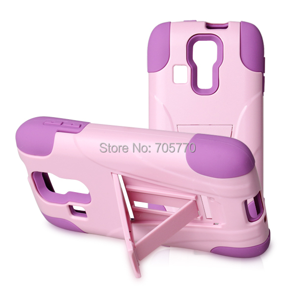 For Kyocera Hydro Vibe C6725 Hybrid Combo Silicon Plastic PC Stand Cell Phone Cases Free Shipping(China (Mainland))