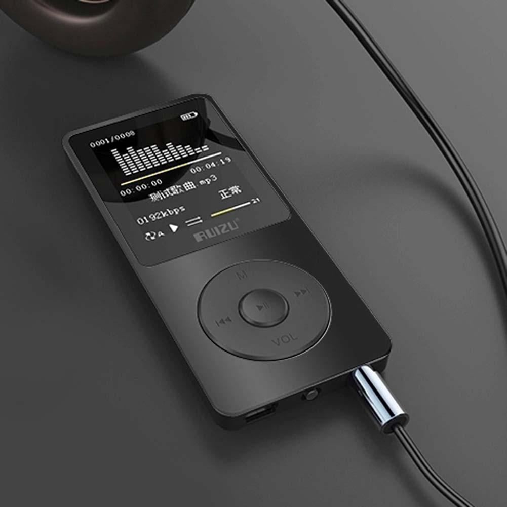 "Big Promotion 1.8"" TFT LCD Screen Black Original RuiZu X02 ,Ultrathin HiFi 4G MP3 Music Player With FM Recorder E-Book Portable(China (Mainland))"
