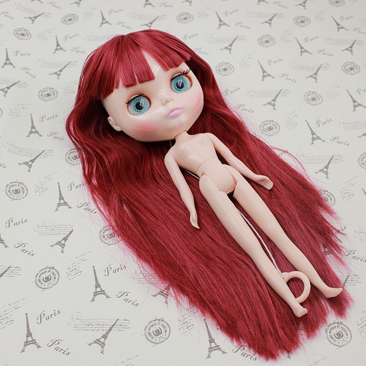 DayTAKAR Blyth cloth doll hair wine red fringe Max muscle Japan hair for Eva modified modified makeup(China (Mainland))