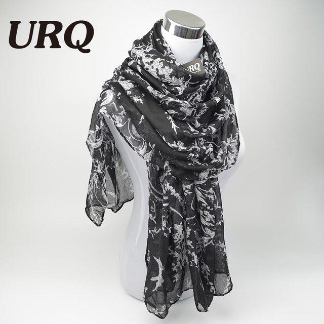 2016 мода цветок вискоза шарф женщины длинный мягкий весна платки лучший подарок ...