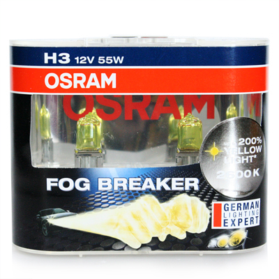 Original 62151FBR H3 12V/55W Fog Breaker 2600K Yellow Globes Fog Spot Light Bulb #A1 x 2 pcs(China (Mainland))