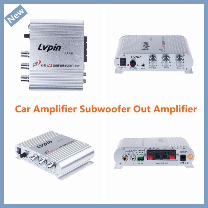 New Arrival Mini HiFi Sliver 12V 200W CD MP3 Radio Car Auto Motor Boat Bass Speaker Amplifier(China (Mainland))