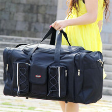Women Travel Bags Large Capacity Girl Luggage Travel Duffle Shoulder Bags Canvas Outdoor Hiking Sport Folding Bag For Trip  X294(China (Mainland))
