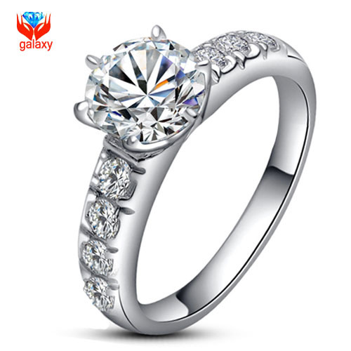 95% OFF!!! Fashion 18K Gold Filled Wedding Rings For Women Luxury 2 Carat CZ Diamond Jewelry Ring anel aneis anillos bague YH686(China (Mainland))