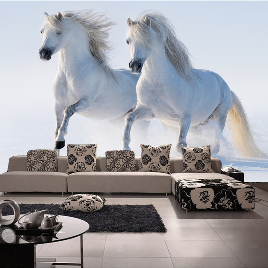 Popular horse wall murals buy cheap horse wall murals lots for Cheap wall mural wallpaper