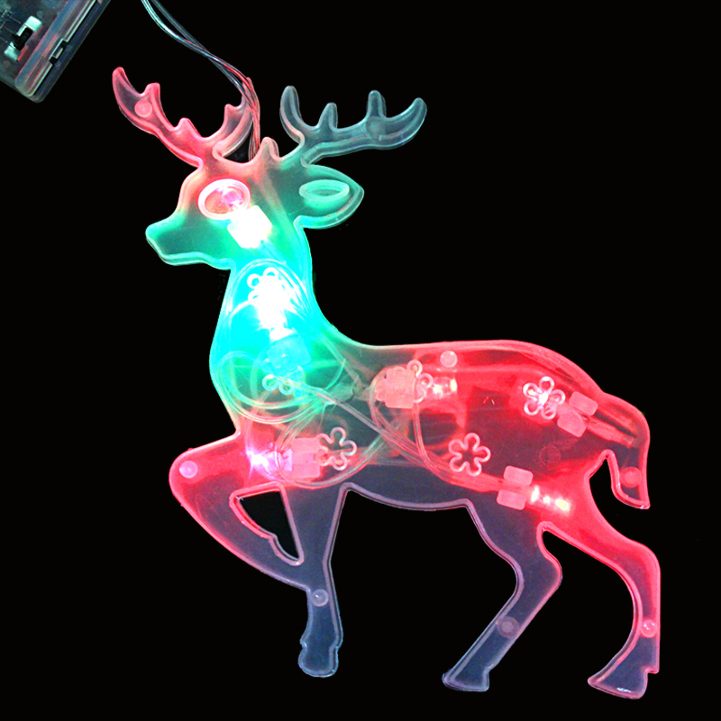 Christmas LED deer elk light holiday home decoration 3*AA battery powered(China (Mainland))