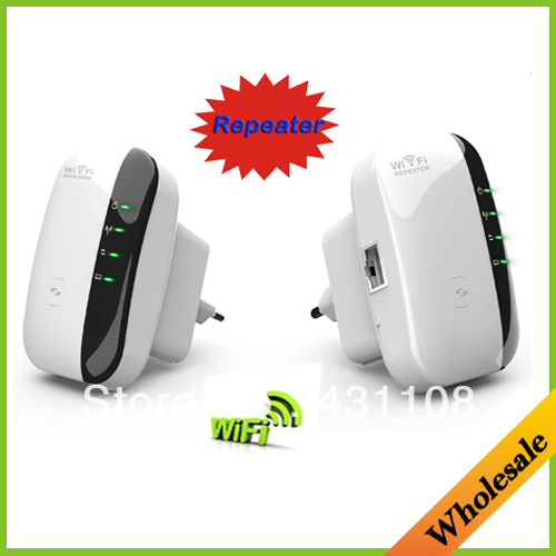 Discount Drop shipping Wireless N Wifi Repeater 802.11N/B/G Network Router Range 300Mbps signal Antennas booster extend wifi(China (Mainland))