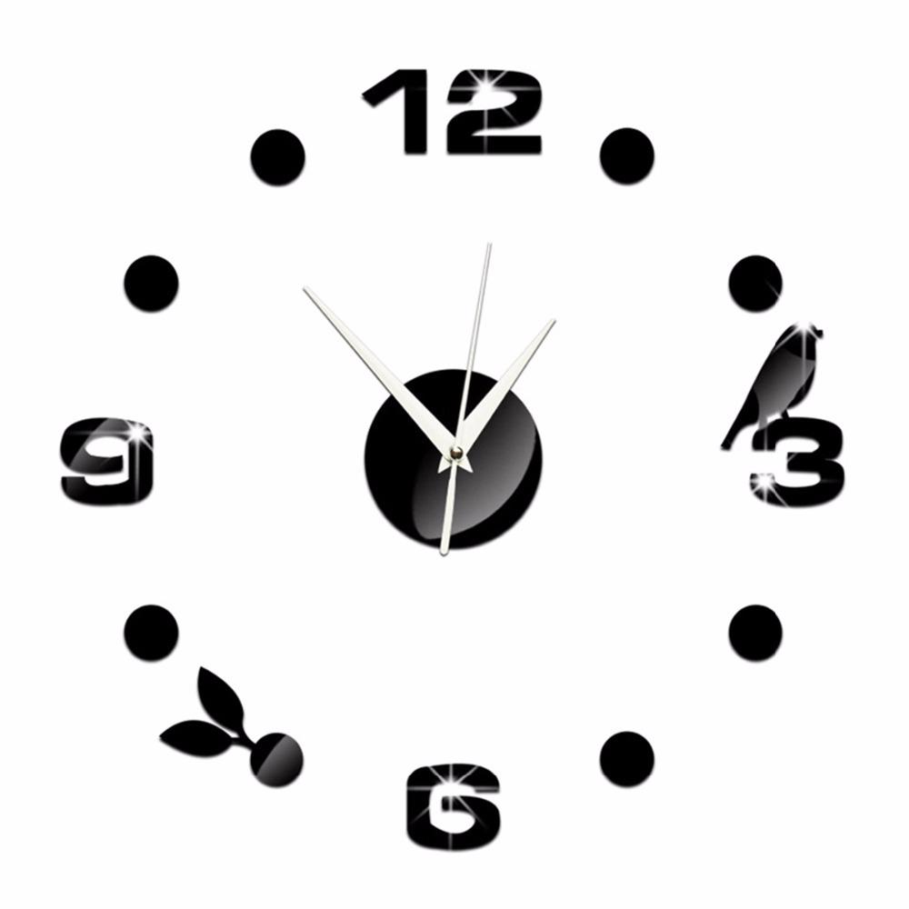 43X43cm Stylish Wall Clock Quartz Acrylic Crystal Interesting DIY Clock Combination Digital Wall Clock Best Home Decor Gift(China (Mainland))
