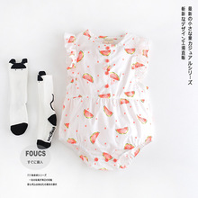 6-24M Baby clothes 2016 Summer Baby girls Body Suit watermelon Bobo choses Rompers Newborn Jumpsuits for infantil clothing(China (Mainland))