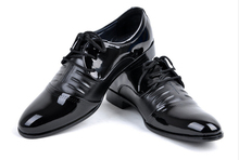 Men of England paint lace-up shoes business and leisure fashion men's shoes pointed single breathable leather shoes men's shoes(China (Mainland))