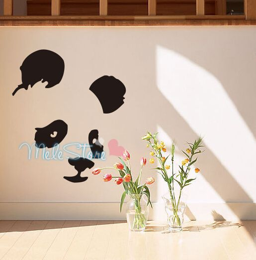 Direct Selling Real Poster Wall Decor Panda Wall Sticker Cartoon Children Room Home Decoration