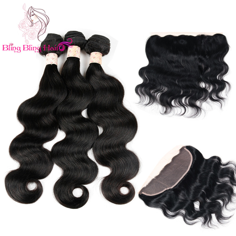 Queen Hair Malaysian Body Wave With Closure 3 Bundles With Frontal Closure Grade 7a Unprocessed Virgin Human Hair With Closure