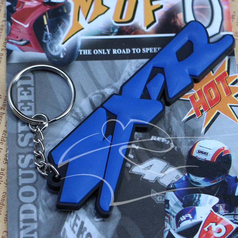 3D Soft Rubber Motorbike Key Ring Keychain For Motorcycle Kawasaki ZXR Free shopping(China (Mainland))