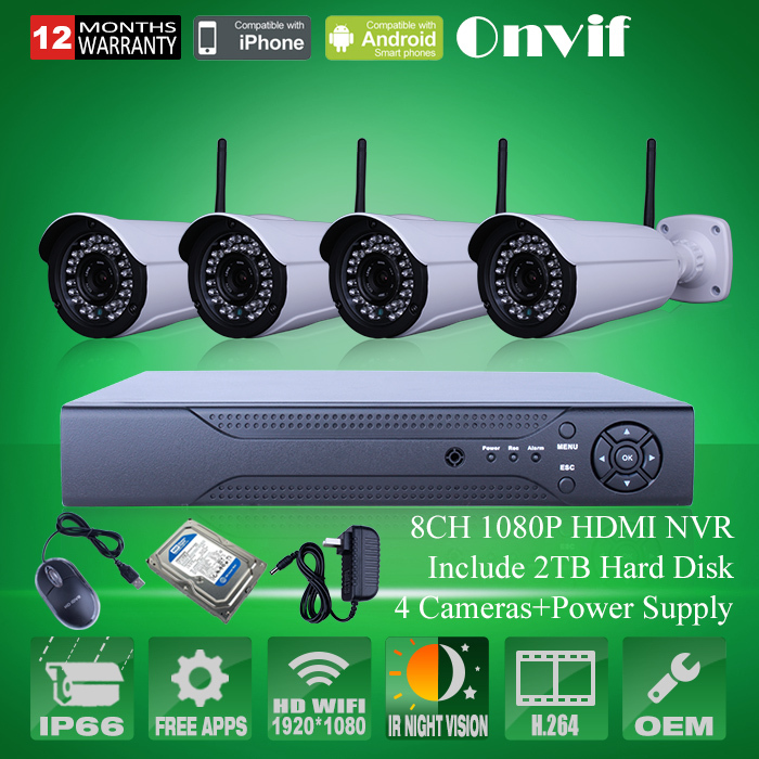 Система видеонаблюдения ANRAN 1080P IP WIFI 3/10 /36ir 8/h.264 NVR CCTV 2 HDD AR-4CH36169-WIFI система видеонаблюдения anran security 2 hdd 8 nvr onvif 1080p hd h 264 ir ip 8ch hk02w ip2 0 4