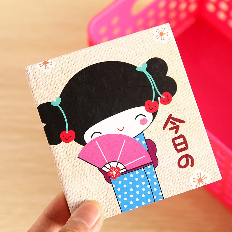 Freeshipping! New japanese girl hard cover diary book / notebook / notepads / 4designs / wholesale(China (Mainland))
