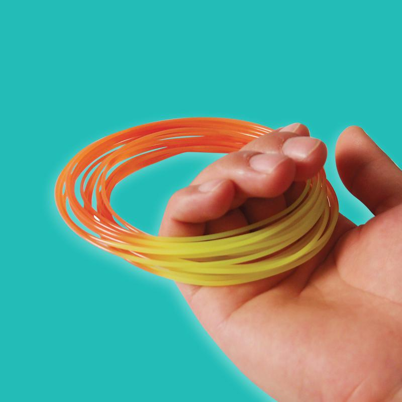 Color changed by temperature 3D printer filament PLA ABS 1.75/3mm 1kg/roll Rubber Consumables Material MakerBot/RepRap/Mendel/UP<br><br>Aliexpress