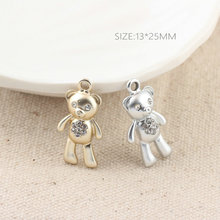 Buy MRHUANG 10pcs Drop Oil Charms Rhinestone Animals Bear Enamel Charms Alloy Pendant bracelet DIY Fashion Jewelry Accessories for $3.48 in AliExpress store