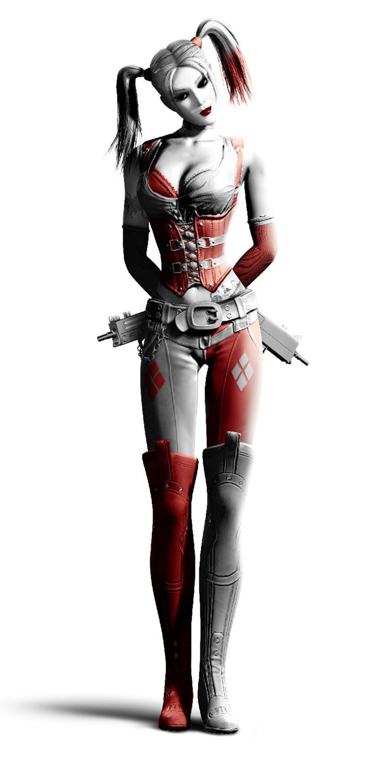 "Harley Quinn Batman Arkham City Fabric poster 48"" x 24"" 36"" x 18"" 25"" x 13""Decor --033"
