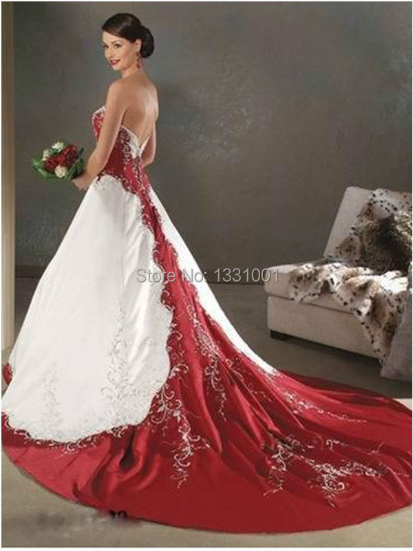 Wedding Special: red white bridal gowns