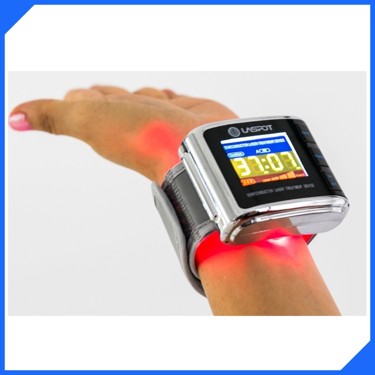 LLLT low level laser therapy wrist watch lowering high blood pressure equuipment for clinical use or hospital use(China (Mainland))