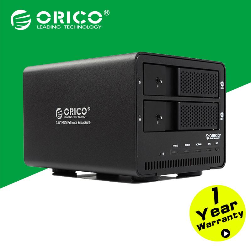 ORICO 9528RU3-BK 2-bay USB3.0 Aluminum External RAID SATA 3.5 Inch HDD Enclosure Support Tool free/Hot-swap/Intelligent sleep(China (Mainland))