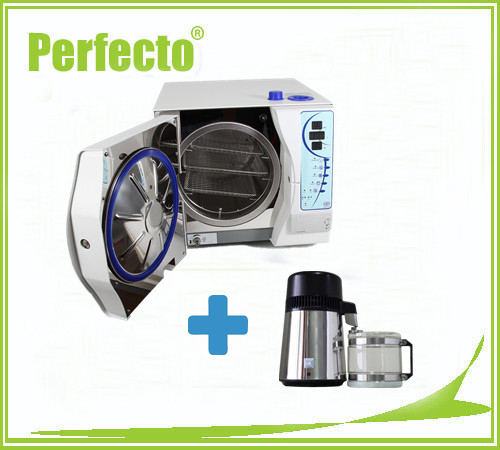 18L Class B Vacuum Steam Dental Autoclave Sterilizer with PRINTER and Stainless Steel Water Distiller FREE SHIPPING(China (Mainland))