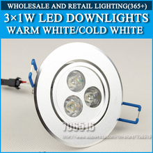Wholesale 100PCS 3W 6W 9W high power led downlights Warm white/cold white AC85-265V Free shipping(China (Mainland))