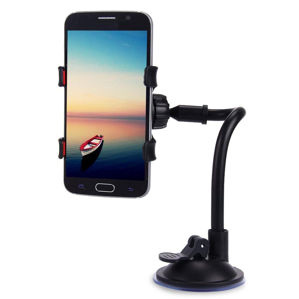 Hot Sale Universal Car Holder 360 Degrees Rotation Long Arm Windshield Dashboard Car Mount Holder Bracket Stand for Phone Holder(China (Mainland))