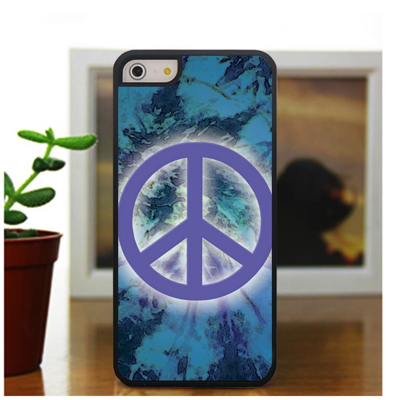 peace sign logo fashion case cover for iphone 5 5S 4 4S 5C for 6 & 6plus(China (Mainland))