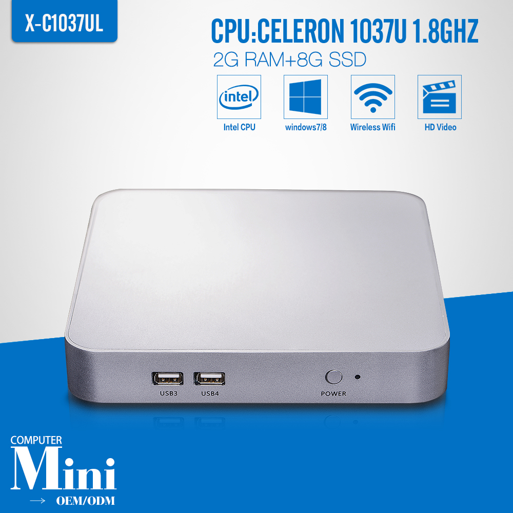 Mini PC Celeron C1037U 2G RAM+8G SSD+WIFI Computer Tablet Desktop Computer Thin Client Window 7/8.1/Ubuntu(China (Mainland))