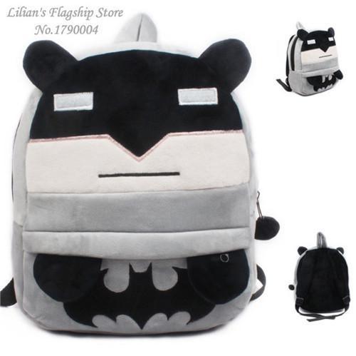 Новое поступление бэтмен плюш мультфильм рюкзак детей круто мешок школы для 3 - 5 Mochila Infantil горячая распродажа