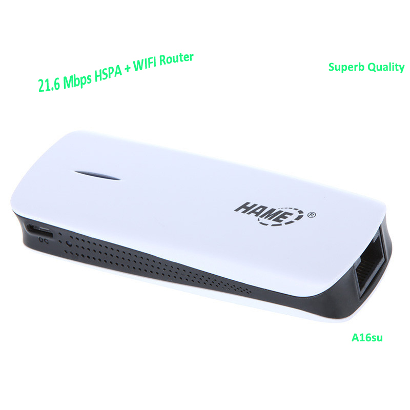 Hame Wireless 3G Wifi Repeater 802.11N/B/G Network Wifi Router WIfi Signal Amplifier with Built-in 1800mah Power Bank(China (Mainland))