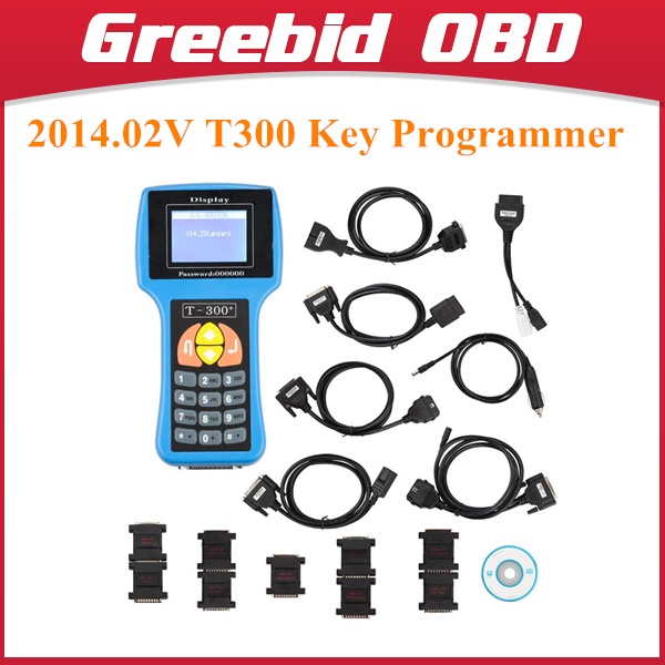 Latest V14.2 Standard T300 Key Programmer English Blue T300 T-300 Auto Key Programmer T300 Programmer(Hong Kong)