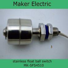 110 V mejor venta de acero inoxidable magnético bola flotante interruptor de nivel MK-SFS4510 interruptor de flotador magnético