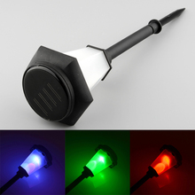 Solar Power LED 3-Color Changing Bright Efficient Garden Yard Landscape Stake Lawn Bulbs Decor Light(China (Mainland))
