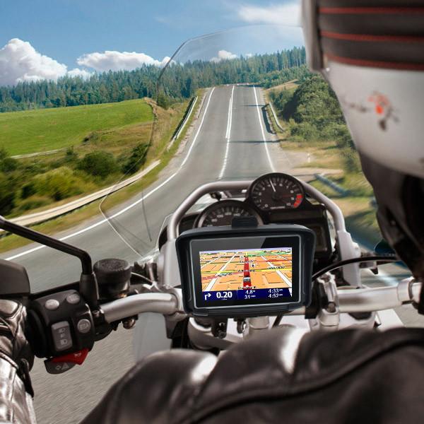4.3 дюймов водонепроницаемый IPX7 мотоцикл GPS навигация MOTO навигатор с fm-bluetooth 8 г вспышка авто GPS с бесплатные карты