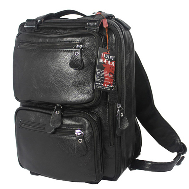 Aliexpress.com  Buy TIDING Menu0026#39;s Real Leather Business Travel Laptop Bags Duffle Gym Bags 3013 ...