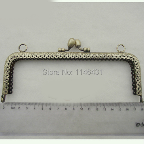 18cm 10pcs/lot embossed metal purse frames handbag handles clutch purse frame bag clasp frame accessories free shipping S0162(China (Mainland))