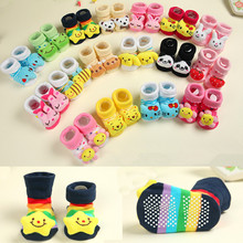 12 pairs/lot =24 pieces Baby Socks With Animal Baby Outdoor Shoes Baby Anti-slip Walking Children Sock Kid's Gift For 0-24month